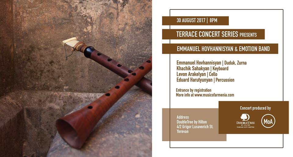 Terrace Concert Series: Emmanuel Hovhannisyan & Emotion Band